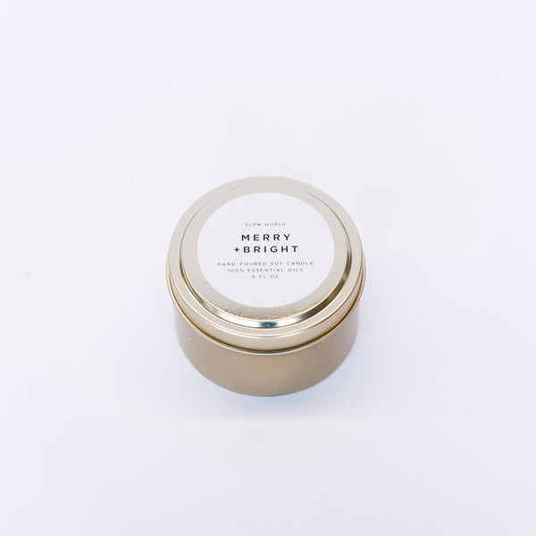 CANDLE: MERRY + BRIGHT (100% ESSENTIAL OILS)