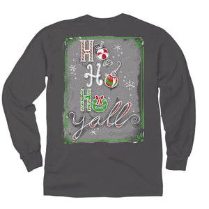 Itsa - Ho Ho Ho Y'all - Long Sleeve T-Shirt - Charcoal