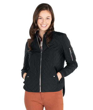 CR 5027 - Quilted Boston Flight Jacket - Black