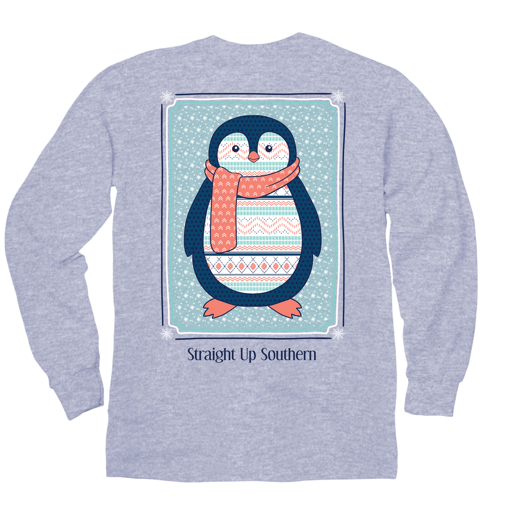 ITSA - YOUTH LONG SLEEVE - Pattern Penguin - Sports Grey