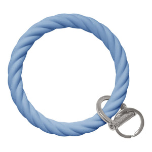 Twisted Bracelet Key Chain - Slate Blue