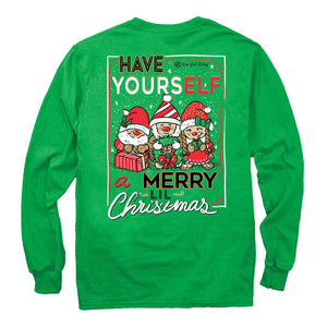 Itsa - YOUTH LONG SLEEVE - Elves Christmas - Irish Green