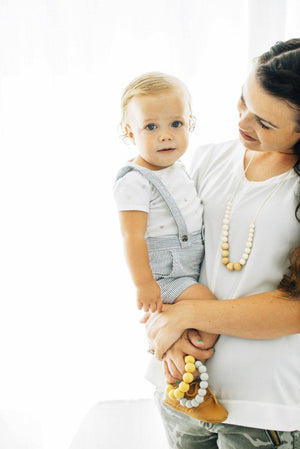 ChewC - The Landon - Cream Teething Necklace