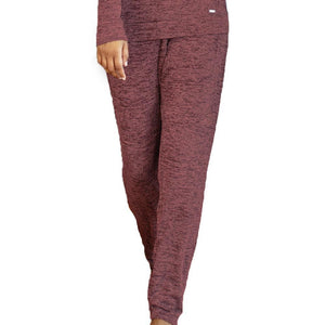 Hello Mello Carefree Threads Lounge Pants - Melange Clay