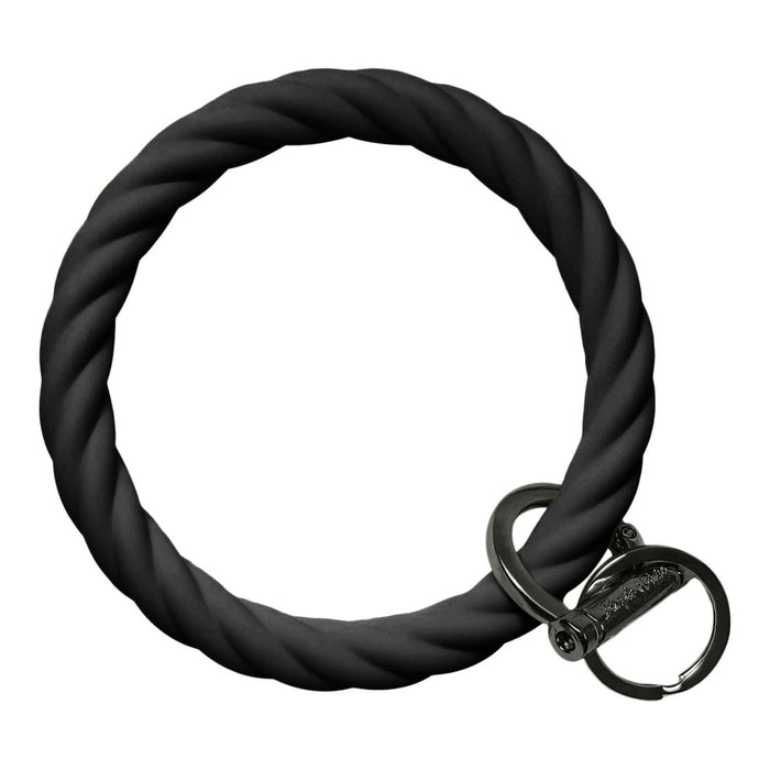 Twisted Bracelet Key Chain - Black