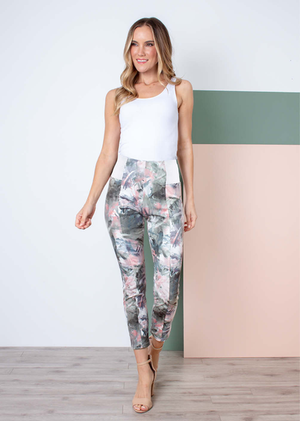 SN - Simply Noelle Palm Springs Ponte Ankle Pants - Large/XLarge (12-14)