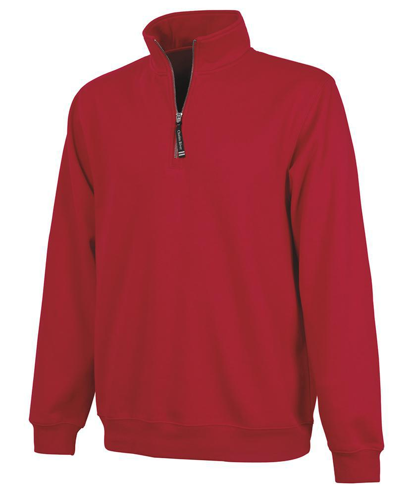 CR 9359 Crosswind Qtr Zip Sweatshirt - Red