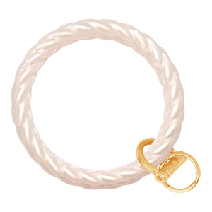 Twisted Bracelet Key Chain - Pearl