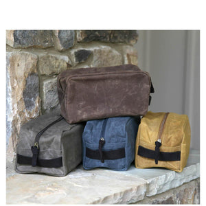 CB - Waxed Canvas Travel Kit - Slate