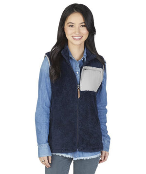 5974 Newport Vest - Navy/Grey