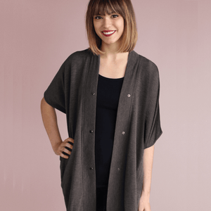 Athleisure Nursing Wrap - Heather Gray