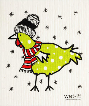 WI - Wet-It! Swedish Cloth - Winter Chicken
