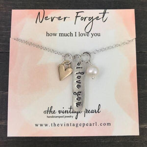 Necklace - Never Forget How Much I Love You