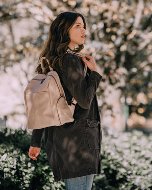 Maddie Soft Large Zip Backpack
