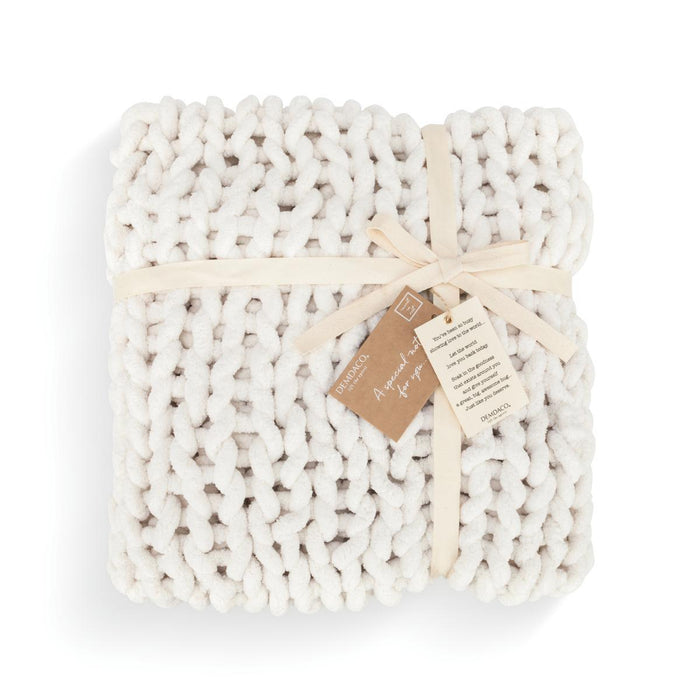 DEM - Chunky Knit Blanket - Cream