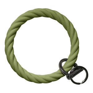 BB - Twisted Bracelet Key Chain - Army Green