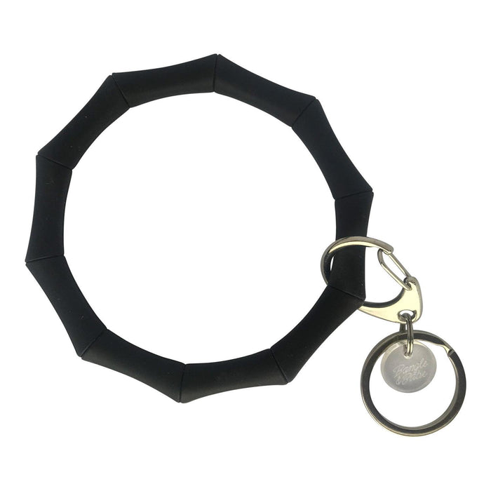 BB - Bamboo Bracelet Key Ring - Black