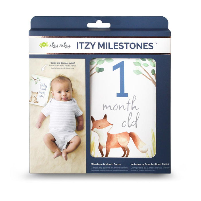IR - Double-Sided Baby Milestone Cards - Woodland