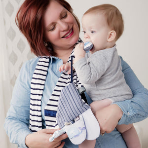 Activity Scarf - Mommy & Me Blue
