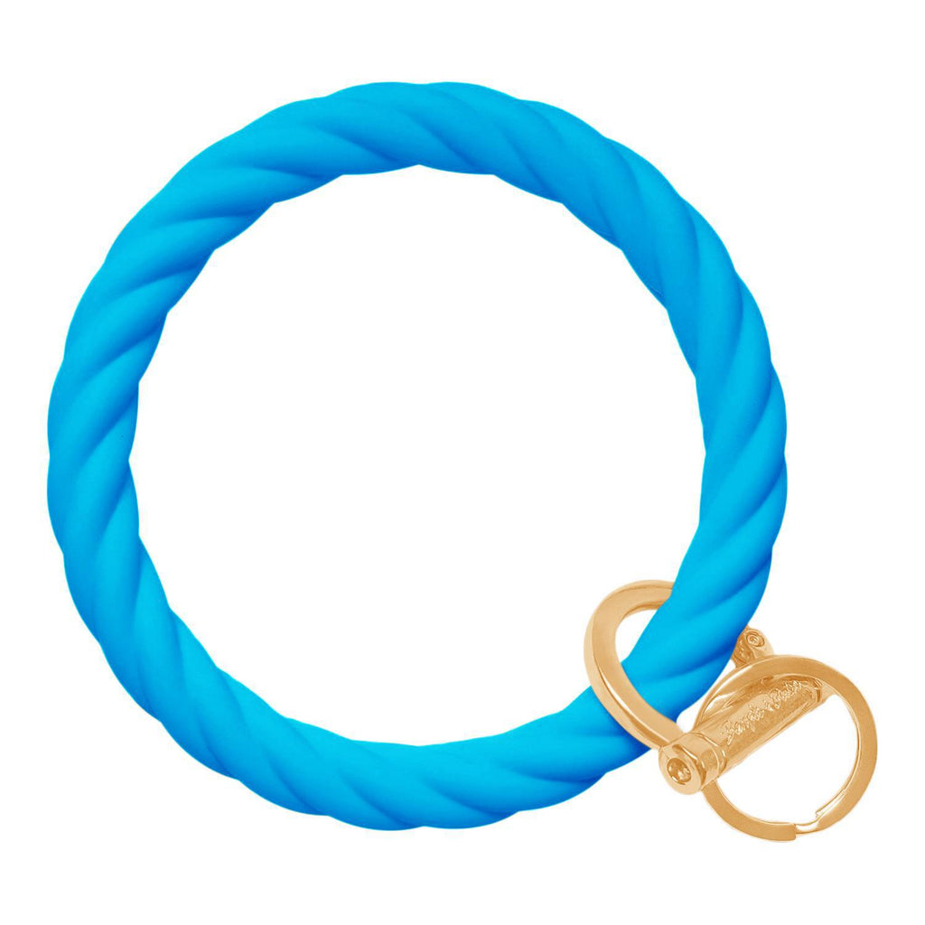 BB - Twisted Bracelet Key Chain - Bright Blue