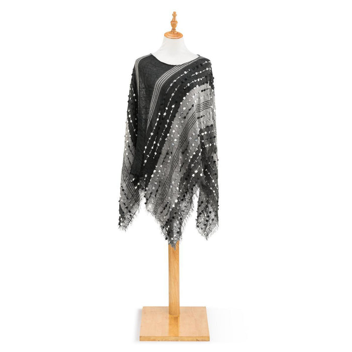 DEM - Textured Poncho - Black
