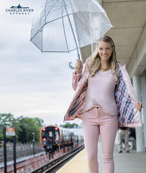Rainjacket 5996 - Rose Gold/Plaid