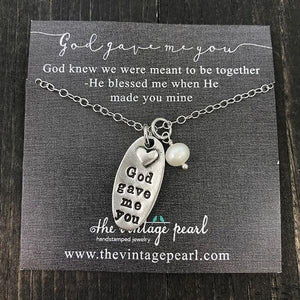 Necklace - God Gave Me You - Silver Plated