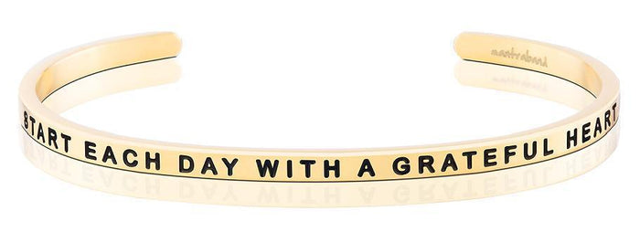 MB - Bracelet - Start Each Day With A Grateful Heart
