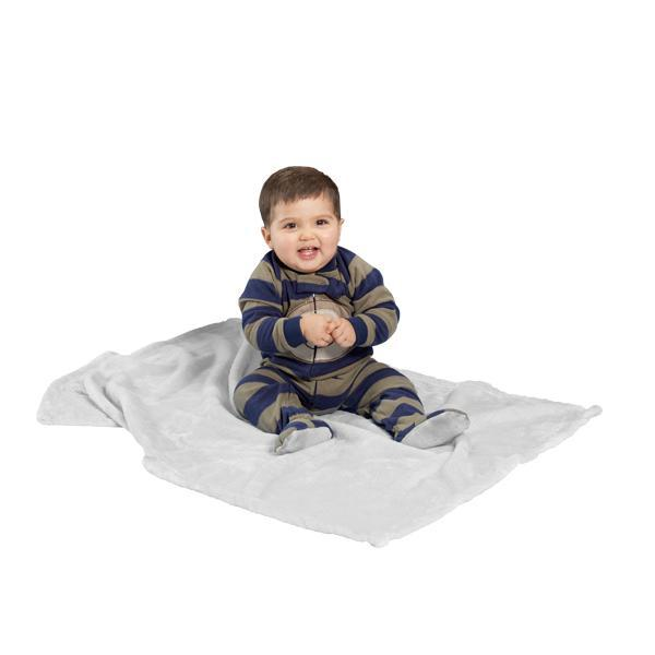 "TT - Tahoe fleece baby blanket, White - 30"" x 40"""