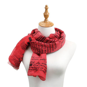 DEM - Scarf - Red Ombre Rectangle Scarf - Love from Poetic Threads
