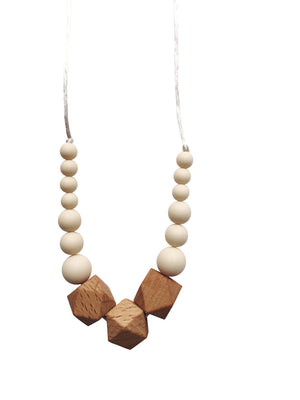 ChewC - The Easton - Cream Teething Necklace