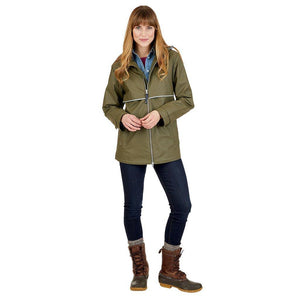 Rainjacket 5996 - Olive/Plaid