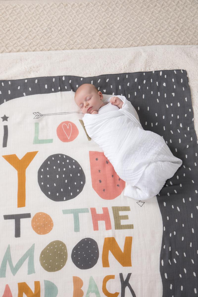 Photo Swaddle - Moon & Back