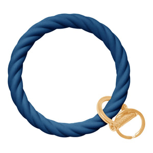 Twisted Bracelet Key Chain - Indigo Blue