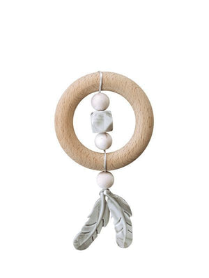 ChewC - Dreamcatcher Silicone & Wood Teether - Rose Quartz