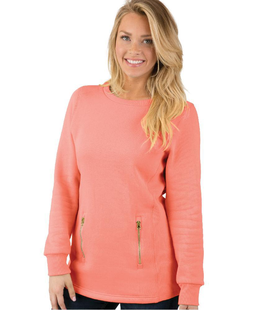 CR 5653 North Hampton Sweatshirt - Bright Coral