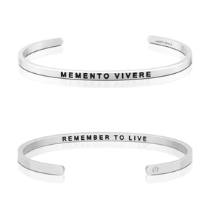 MB - Bracelet - Memento Vivere, Remember to Live