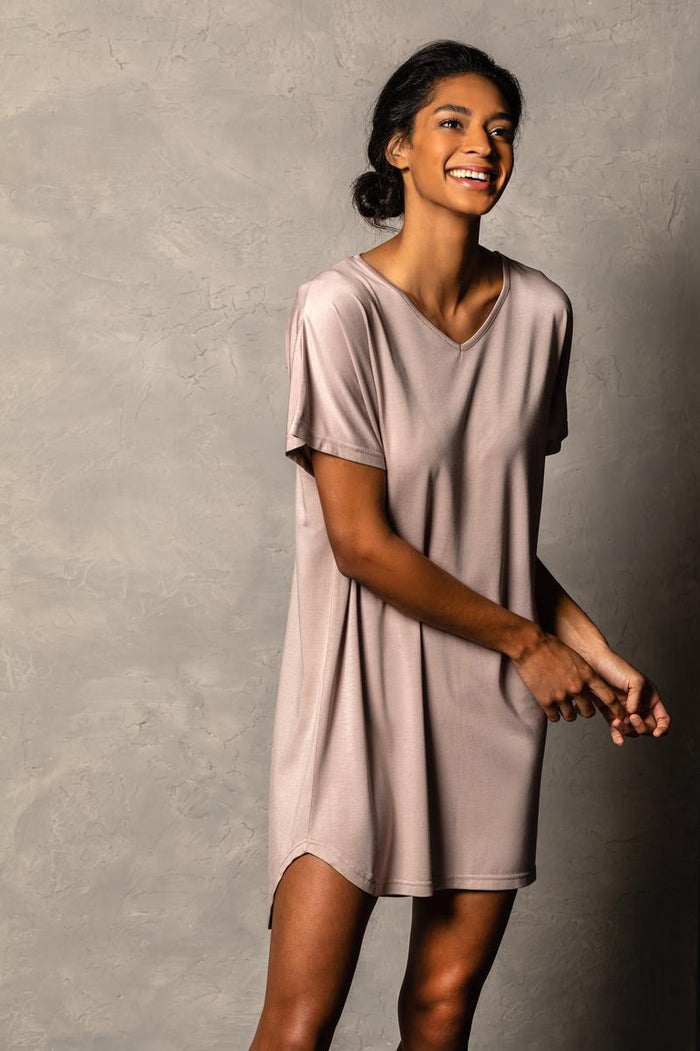 DEM - Bamboo Long Lounge Shirt - Mauve