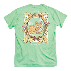 Itsa - YOUTH SHORT SLEEVE - Hello Spring Deer - Mint