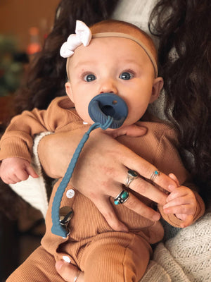 IR - Pacifier  - Sweetie Soother - Nautical Navy Cable