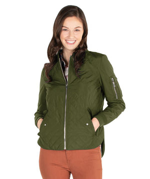 CR 5027 - Quilted Boston Jacket - Olive