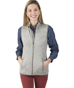 CR 5722 Pacific Heathered Vest - Light Grey