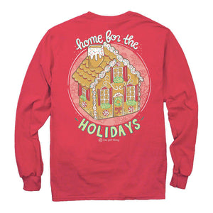Itsa - YOUTH LONG SLEEVE - Gingerbread House - Red