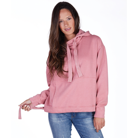 CR 5153 - Women's Laconia Hooded Sweatshirt - Crystal Pink