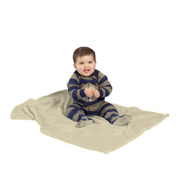 "Tahoe fleece baby blanket, Natural - 30"" x 40"""