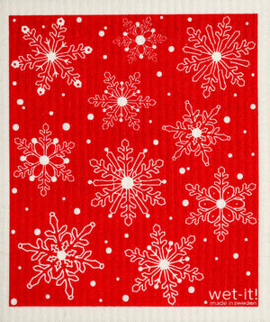 WI - Wet-It! Swedish Cloth - Winter Day Red