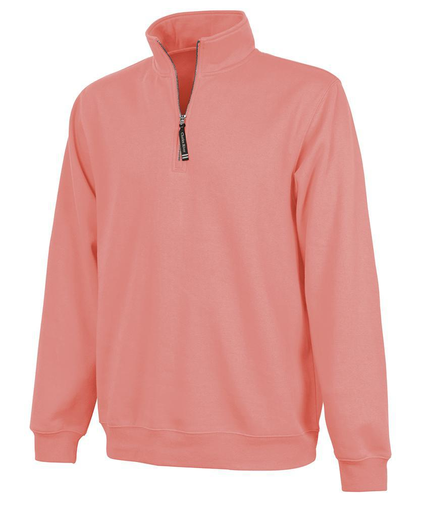 CR 9359 Crosswind Qtr Zip Sweatshirt - Bright Coral