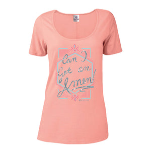 Itsa - Short Sleeve Scoop Neck - Can I Get An Amen - Blush