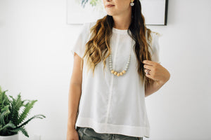 ChewC - The Landon - Grey Teething Necklace