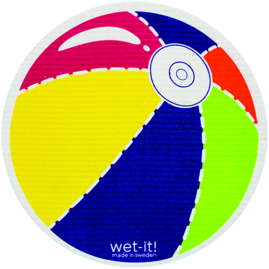 Wet-It! Rounds Swedish Cloth - Beach Ball